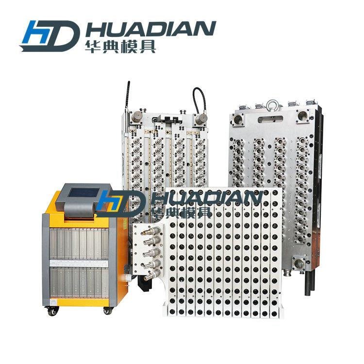 48腔热流道气封模具 配温控箱及机械手